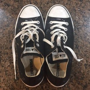 Converse All-Stars, size 9 black sparkle